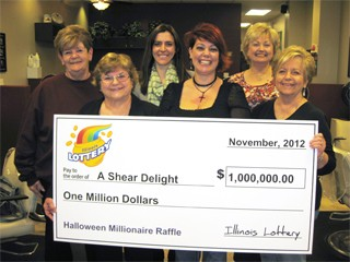 Illinois Lottery Past Lottery Pool Winners, The Ladies of a Shear Delight Beauty Salon group